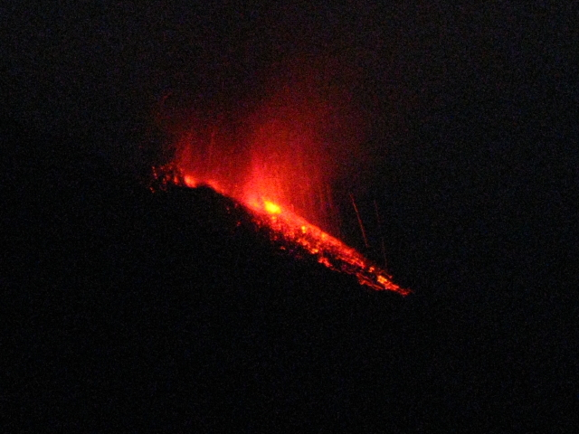 Eruption Nocturne du Stromboli